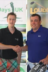 Winner Kevin Thomas (right)