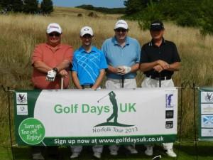 Winner James Hart (second from left)